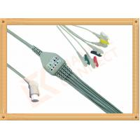China 10 Pin 5 Leads Grabber IEC Datex Ohmeda Ecg Cable With Copper Conductor wholesale