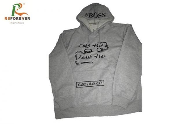 Quality Embroidered Gray Hooded Sweatshirt Jacket Men Cotton Custom Pullover Hoodies for sale
