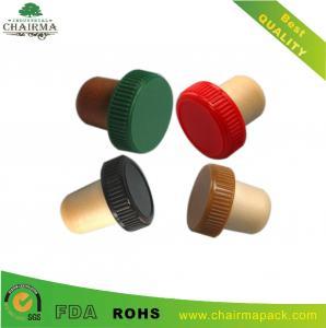 China Plastic cap synthetic cork wine bottle stopper wholesale