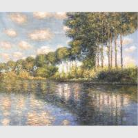 China Handmade Claude Monet Oil Paintings Poplars on the epte Old Master Reproduction on sale