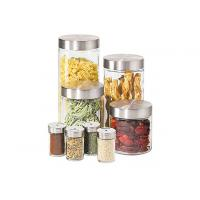 China mini square glass canister set,glass storage jar wholesale
