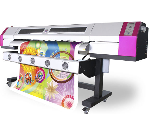 Quality Two DX5 Epson Solvent Printers , 1.8M 1440DPI Wall Paper Machine for sale