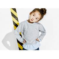 China Two Piece Grey Kids Girls Clothes Size 12 Girls Cotton Shirt Customized Size on sale