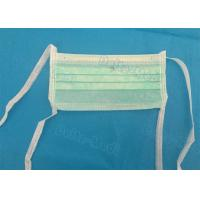 China Green 3 Ply Non Woven Face Mask , Sterile Disposable Medical Face Masks on sale