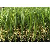 China Soft Durable Outdoor Artificial Grass Lawns S Shaped 20mm - 45mm Pile Height wholesale