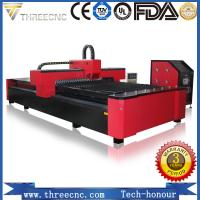 China 500w 1000w 2000w Metal stainless steel fiber laser cutting machine price for 5mm carbon steel. TL1530-1000W THREECNC wholesale