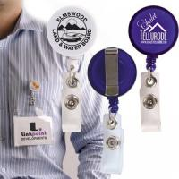 China plastic retractable name badge holder with strap on sale