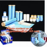China HDPE auto paint overspray protective masking film overspray masking film, Plastic Pre-taped Masking Film Drop cloth mask on sale