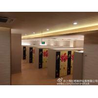 China SPA IOT Locker 6 Comparts  3 Column Double Tier Lockers With Print Picture Door wholesale
