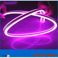 China pink color 240V LED double-sided flexible neon strip light 8*17mm outdoor use wholesale