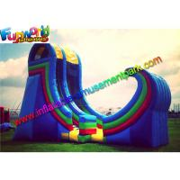 China Durable Giant Commercial Inflatable Slide Plato 0.55 PVC With Air Blower on sale