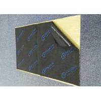 China Acoustic Foam Soundproof Mat Strong Adhesive 7mm Black Rubber Foam Logo Printed on sale