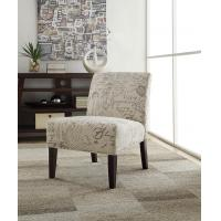 China Hasel Microfiber Accent Chair Natural Wood Tone Legs For Lesuire Sitting wholesale