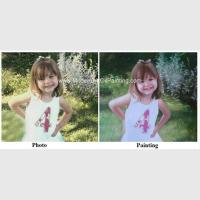Children Portraits Painting Oil on Canvas Professional Photo to Painting Gift