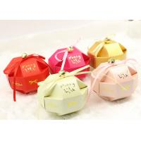 Cute small assemble paper box for candy and snacks of wedding gift