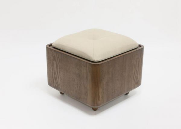 Quality Home Simple Luxury Living Room Furniture Storage Wooden Stool With Cushion for sale