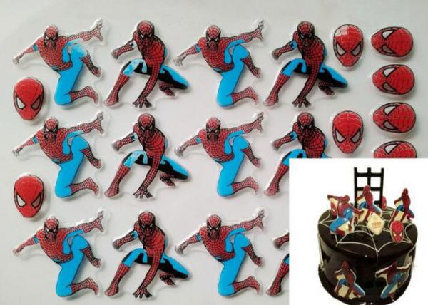 Quality Handsome Spiderman Patterns Chocolate Transfer Sheets , Fondant Transfer Sheets for sale