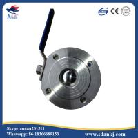 ANSI-150 Stainless steel clamp type ball valve with ISO5211 mounting pad