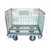 Buy cheap Large capacity lockable warehouse wire storage cage / stackable folding storage from wholesalers
