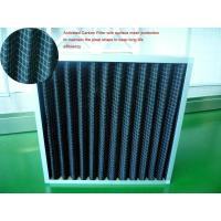 China Panel Aluminium Frame Activated Carbon Air Filter with Pleated Media to Enlarge Filtration on sale