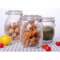 China Owl Shape Tea Glass Jar Container / Glass Storage Jar With Silicon On Lid wholesale