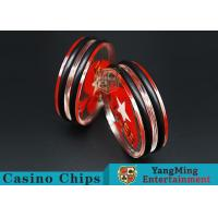 China Transparent Texas Holdem Dedicated Dealer Button Two Side For Poker Table Games wholesale