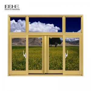 China Champagne Aluminium Section Sliding Window / Office Aluminium Sash Windows on sale