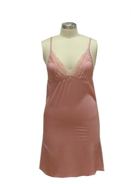 Quality Summer Fitness 100 Polyester Nightgowns , Ladies Sexy Night Dress With Shoulder Straps for sale