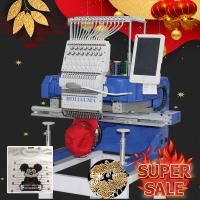 China Tajima/brother type 450*650mm single head computer embroidery machine for cap/shoes/flat/tshirt/hat/3d/sequin/cording on sale
