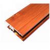China Square Wood Finish Aluminium Profiles , Different Colors Aluminium Framing Systems wholesale