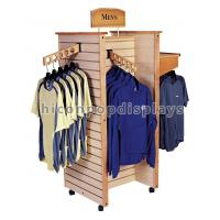 China Wooden Slatwall Clothing Store Fixtures and Displays Flooring wholesale