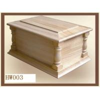 Buy cheap Wooden human urns, Adult urns made in Paulownia wood, Natural finish from wholesalers