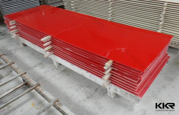 Red Countertop Materials : Decorative Red Marble Acrylic Sheet Popular For Building Material