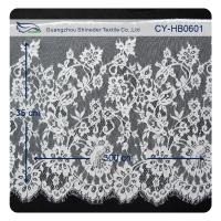 China Nylon Eyelet Lace Trim , Floral Scallop Bridal Lace For Evening Dress on sale