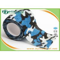 Buy cheap Blue Colour Camouflage Printing Non Woven Cohesive bandage Pre Wrap for Army Camping Hunting from wholesalers
