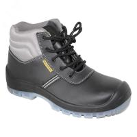 China pu/pu outsole with steel toe cap steel pleate blaack safety shoes for man wholesale