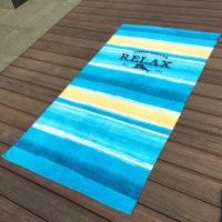China Large Stripe Promotional Beach Towels With Raw Finest Egyptian Cotton wholesale