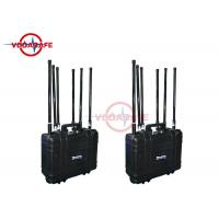 China Rechargeable Battery Mobile Phone Signal Jammer 300W Working For Dangerous Signals on sale