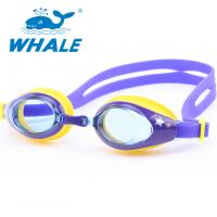 China Purple Waterproof Non Fog Swimming Goggles PC Lens For Water Sports wholesale