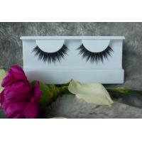 China Realistic Glossy Natural False Eyelashes With Synthetic Fibre , Hand-Tied wholesale