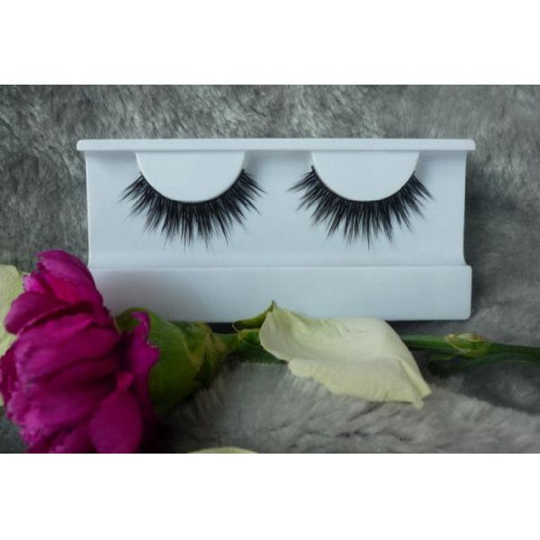 Quality Realistic Glossy Natural False Eyelashes With Synthetic Fibre , Hand-Tied for sale