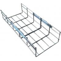 China Industrial steel galvanized metal vertical straight wire mesh cable tray, 200*100mm wholesale