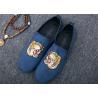 Buy cheap Men Loafer Slip On Shoes Flat Casual Shoes Tiger Metal At Vamp Velvet EUR 38 - from wholesalers
