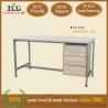China modern designed 3D melamine computer desk table wholesale