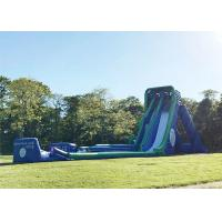 Buy cheap Green 0.55mm PVC Tarpaulin Giant Inflatable Slide For Outdoor In Summer from wholesalers