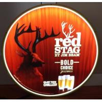 China Jim Beam Red Stag Whiskey Led Light Up Sign Buck Deer Game Room Man Cave wholesale