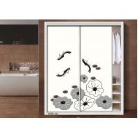 China Moisture Resistant MDF / Plywood Lotus Leaf Interior Sliding Door For Bedroom wholesale