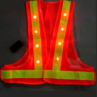 Quality High-Visibility Reflective Flashing LED Safety Vest for sale