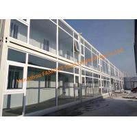 China Foldable Flat Pack Prefab Container House With Glass Facade Decoration For Office Use on sale