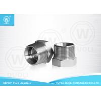 China Carbon Steel Hydraulic Nipple Pipe Fitting with BSPT Male And BSP Female Thread on sale